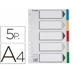 Separadores plastico Esselte Din A4 juego de 5 colores