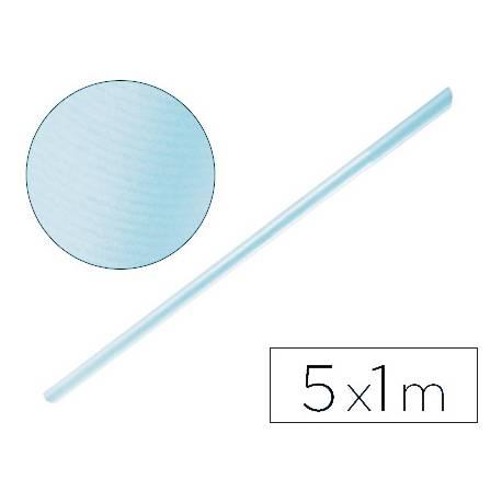 Bobina papel tipo kraft Liderpapel 5 x 1 m azul cielo