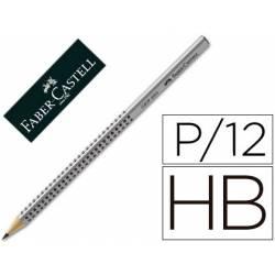 Lapiz grafito marca Faber Castell HB triangular