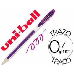 Boligrafo marca Uni-Ball roller UM-120 signo violeta