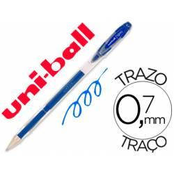 Boligrafo marca Uni-Ball roller UM-120 signo 0,4 mm azul