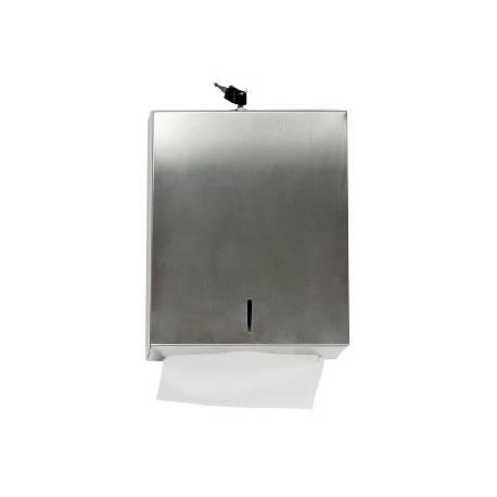 Dispensador de toallitas grande marca Q-Connect inoxidable
