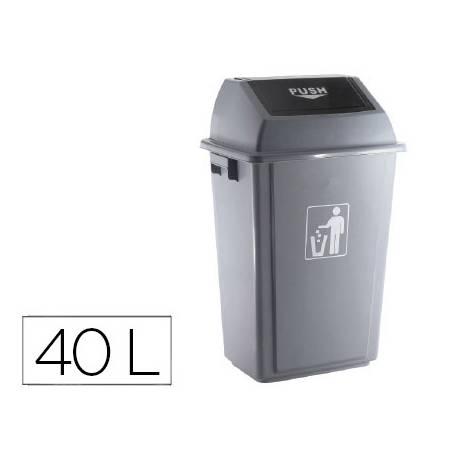 Papelera contenedor Q-Connect plastico de 40 litros