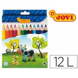 Lapices de colores Jovi Maxi triangulares 12 colores surtidos