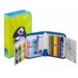 Plumier marca Maped Panda cremallera de 32 piezas