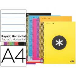 Bloc Antartik A5 Rayado Horizontal tapa Forrada 120 hojas 100g/m2 Colores Surtidos 5 bandas color