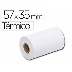 Rollo sumadora marca Q-Connect termico 57mm ancho x 35mm diametro