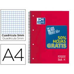 Bloc Oxford EBook4 Din A4 doble espiral tapa extradura120 hojas colores surtidos
