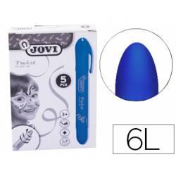 Barra maquillaje azul marca Jovi Twist Make-UP. Caja de 5 unidades