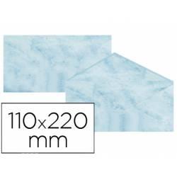 Sobre marmoleado Michel fantasia color azul 25 sobres