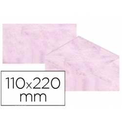 Sobre marmoleado Michel fantasia color rosa 25 sobres