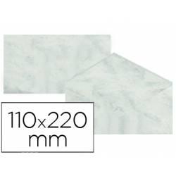 Sobre marmoleado Michel fantasia color gris 25 sobres