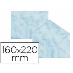 Sobre marmoleado Michel fantasia color azul 160 x 220 mm