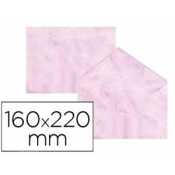 Sobre marmoleado Michel fantasia color rosa 160 x 220 mm