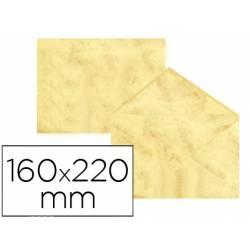 Sobre marmoleado Michel fantasia color amarillo 160 x 220 mm