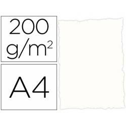 Papel pergamino DIN A4 troquelado color Blanco rustico