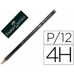 Lapices de grafito marca Faber Castell 9000 4H
