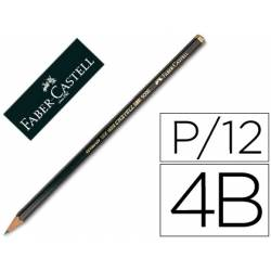 Lapices de grafito marca Faber Castell 9000 4B