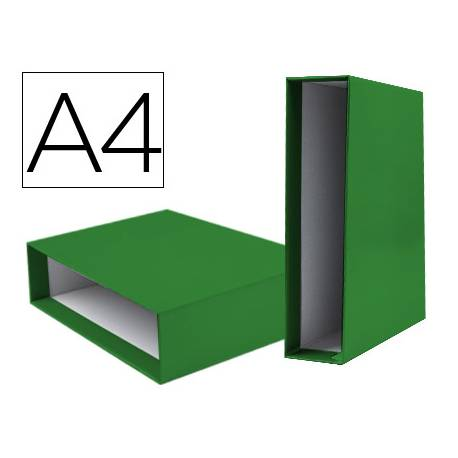 Caja archivador marca Liderpapel de palanca Din A4 documenta Verde