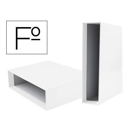 Caja archivador marca Liderpapel de palanca Folio documenta Blanco