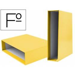 Caja archivador marca Liderpapel de palanca Folio documenta Amarillo