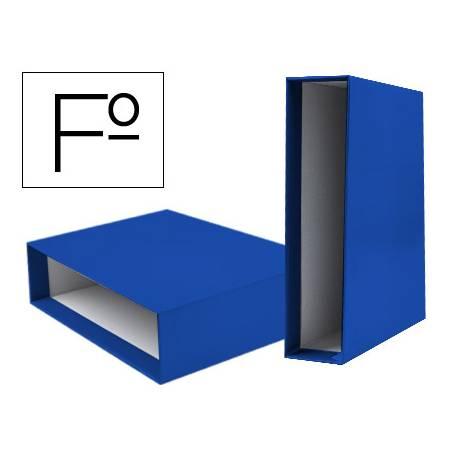 Caja archivador marca Liderpapel de palanca Folio documenta Azul