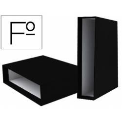 Caja archivador marca Liderpapel de palanca Folio documenta Negro