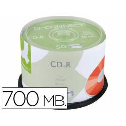 CD-R Q-Connect imprimible para inkjet tarrina 50