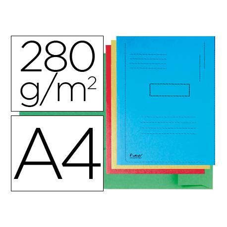 Subcarpeta cartulina Exacompta A4 colores surtidos 280g/m2 reciclada 2 solapas interiores
