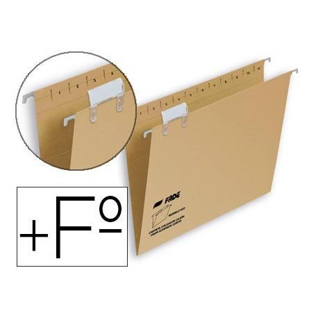 Carpeta colgante Hamelin folio prolongado visor superior kraft eco naranja amarillo