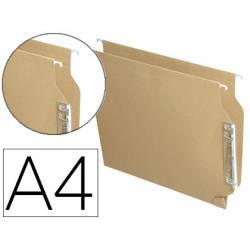 Carpeta colgante marca Hamelin A4 visor lateral kraft eco