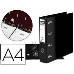 Archivador de palanca Elba carton forrado din A4 negro doble mecanismo