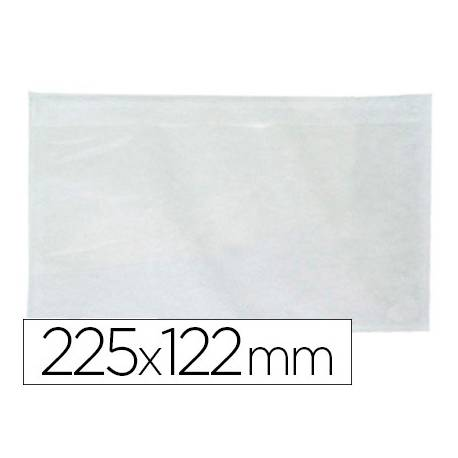 Sobre autoadhesivo Q-connect portadocumentos 225x122 color blanco Paquete de 100