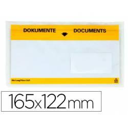 Sobre autoadhesivo Q-connect portadocumentos 165x122 transparente Paquete de 100