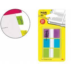 Banderitas Post-it ® separadoras Index verde, azul y violeta