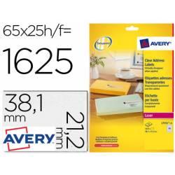 Etiquetas adhesivas marca Avery din A4 imprimibles transparente 38,1 x 21,2 mm