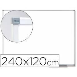 Pizarra Blanca Vitrificada Magnetica con marco de aluminio 240x120 Nobo