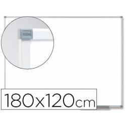 Pizarra Blanca Vitrificada Magnetica con marco de aluminio 180x120 Nobo