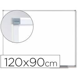 Pizarra Blanca Vitrificada Magnetica con marco de aluminio 120x90 Nobo