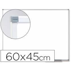 Pizarra Blanca Vitrificada Magnetica con marco de aluminio 60x45 Nobo