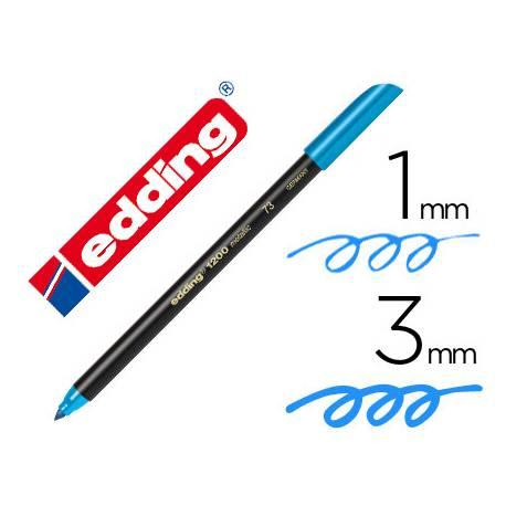 Rotulador Edding 1200 azul metalizado nº73