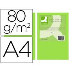 Papel color marca Q-Connect Din A4 Verde neon 500 hojas