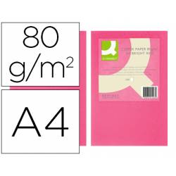 Papel color Q-connect tamaño A4 80g/m2 pack 500 hojas Rosa intenso