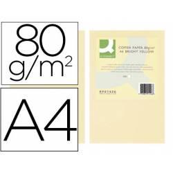 Papel color Q-connect tamaño A4 80g/m2 pack 500 hojas Crema
