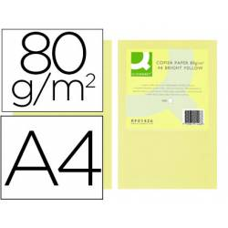 Papel color Q-connect tamaño A4 80g/m2 pack 500 hojas Champagne