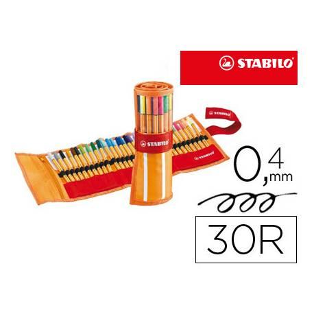 Rotulador Stabilo Point 88 Neon 0,4 mm Punta de Fibra Estuche 30 unidades