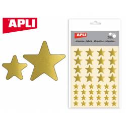 Gomets Apli estrella color oro