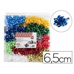 Lazos fantasia marca Liderpapel colores metalizados 6,5 cm