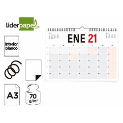 CALENDARIO PARED LIDERPAPEL 2021 42X29,7 CM PAPEL 70GR