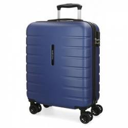 Maleta de cabina rígida Movom Turbo azul 55x40x20cm